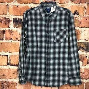 NEW Arizona Jean Plaid Flannel Shirt Size Medium